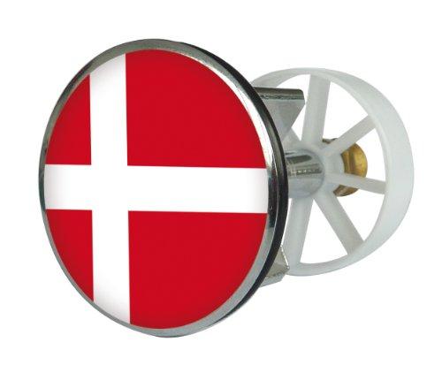Waschbeckenstöpsel Design Dänemark | Abfluss-Stopfen aus Metall | Excenterstopfen | 38 – 40 mm