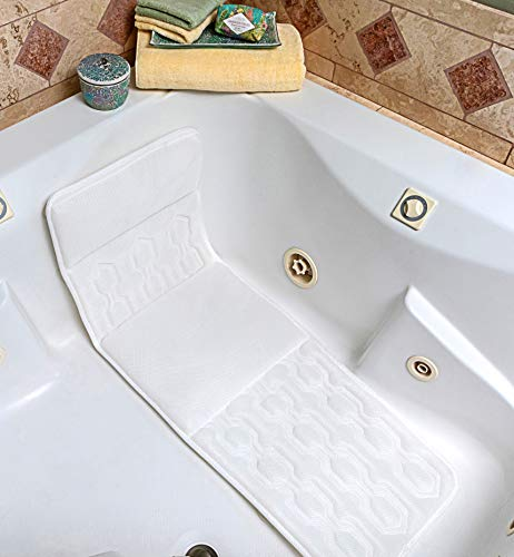 Bath Pillow - Exclusive Design Extra Seat Cushioning Plush Comfort Spa Bathtub Full Body Mat Pillow