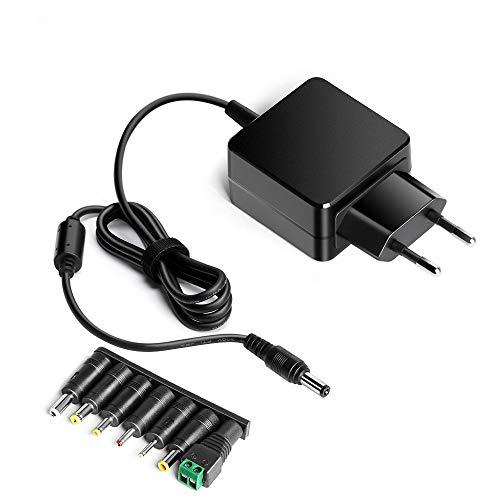 HKY 12V Adaptador de Cargador Universal para Tira de luz LED, Tableta,enrutador ADSL,HUB,Altavoz,Bose JBL Flip I,HP 2011X 2211X 2311X LED LCD Monitor,Masajeador,TV Logic,Fritzbox 6590 7580 7582 7590