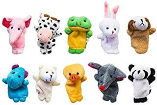 SKEIDO 10 pcs Tiny Animal Farm Finger Puppet Toy Cloth Toy