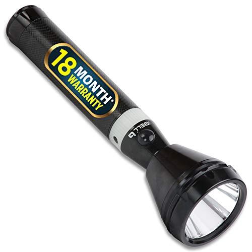 iBELL FL8348 Rechargeable Torch Flashlight, Extra Long Beam Range, Aircraft Aluminium Body, Super Bright LED Light
