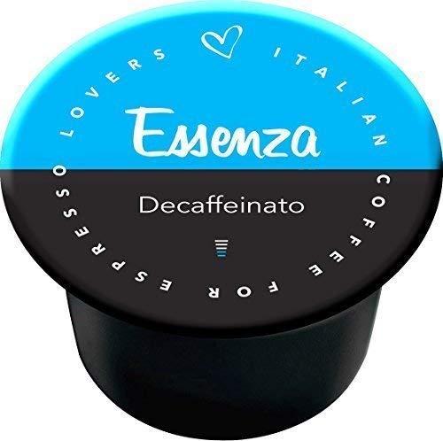 Italian Coffee Essenza - 50 cápsulas de café descafeinado compatibles con las cafeteras Lavazza Blue e In Black de Nims.