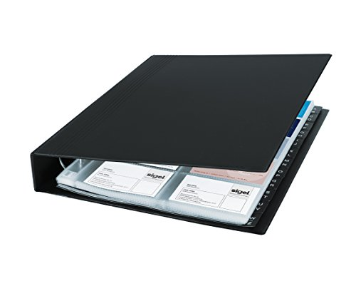 SIGEL VZ301 - Tarjetero de anillas, para hasta 400 tarjetas (máximo 90 x 58 mm)