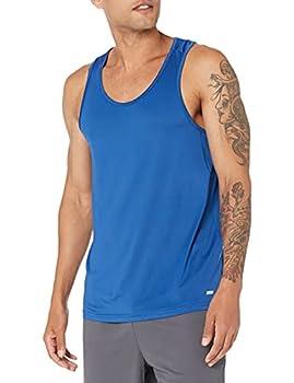 Amazon Essentials Men s Tech Stretch Performance Tank Top Shirt True Blue XX-Large