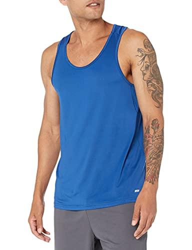Amazon Essentials Tech Stretch Tank athletic-shirts, Azul true, US M (EU M)
