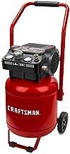 Craftsman Air Compressor, 10 Gallon Peak 1.8 Horsepower Oil-free Compressor, Max 150 PSI, Vertical Compressor Air Tools, Model: CMXECXA0331042, Red