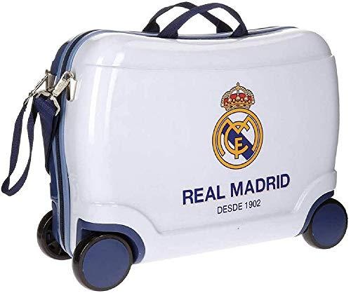 Real Madrid Futbol Time Valigia per bambini, 50 cm, 34 liters, Bianco (Blanco)