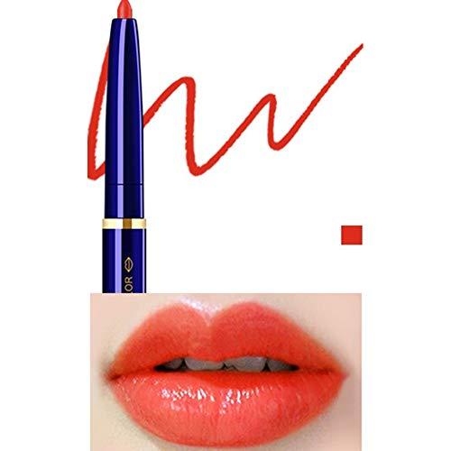 Yiwa Double Tête Cosmétique Professionnel Lipliner Imperméable Dame Charme Lèvres Lèvres Doux Crayon Contour Rouge À Lèvres 08#