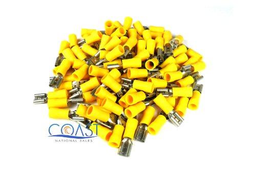 Xscorpion Fd250y Yellow Female Quick Disconnect 10 - 12 Gauge 100 Per Bag