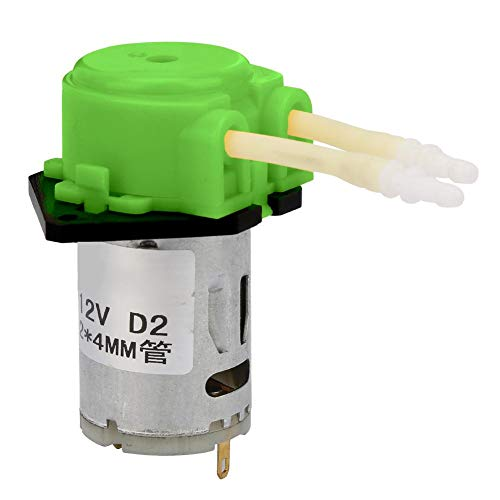 Motorisiertes Kugelventil, 12-V-ABS-Silikon, grün, peristaltische Flüssigkeitsdosierung, selbstansaugende Pumpe D2, 2 Stk, 4-mm-Anschluss