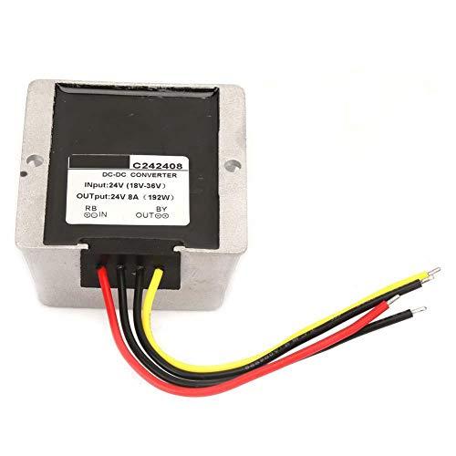 18-36V a 24V Eficiente convertidor de voltaje ascendente/descendente automático Regulador de voltaje Módulo de fuente de alta potencia Estabilizador de voltios Convertidor Buck Boost(8A)