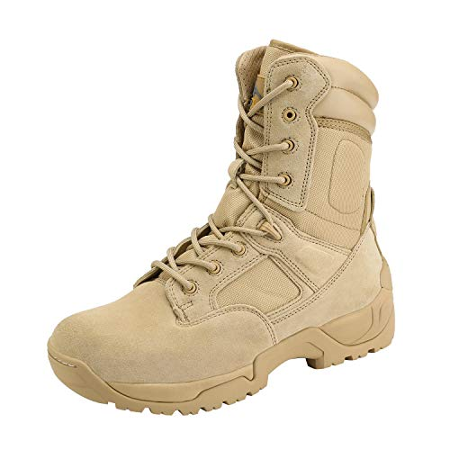 NORTIV 8 Men's Military Tactical Work Boots Side Zip Hiking...