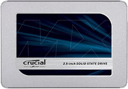 Crucial クルーシャル SSD 500GB MX500 SATA3 内蔵2.5インチ 7mm CT500MX500SSD1 9.5mmスペーサー付【5年保...