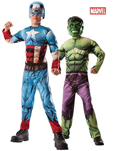 Rubies Officielle Marvel Avengers Assemble Deluxe Hulk pour Captain America, Enfant, Costume – Medium