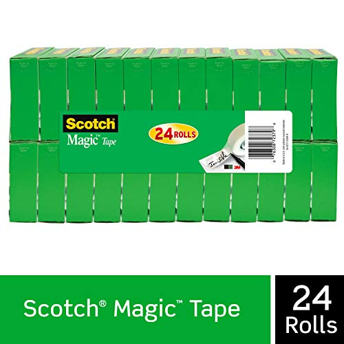 Scotch Brand Magic Tape, Numerous Applications, Cuts Cleanly, Engineered for Office and Home Use, 3/4 x 1000 Inches, Boxed, 24 Refill Rolls (810K24)
