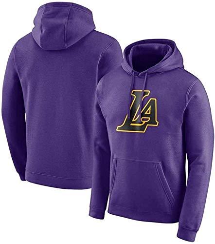 NBA Sudadera con capucha para hombre, de los Lakers de Los Ángeles, de manga larga, sudadera deportiva para jóvenes, informal, sudadera con capucha (talla XXL: XXL), unisex (talla: XXXXL)