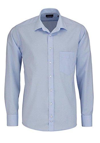 Hatico Regular Fit Hemd Langarm mit Brusttasche blau Größe 41