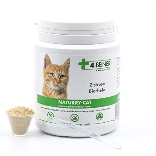 4-BEINER NATURRY-CAT – Zistrose (cistus incanus) und Bierhefe für Katzen, Nahrungsergänzung viele natürliche Vitamine & Mineralstoffe, 90 g Pulver für Katzen