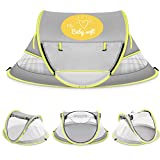 (MyBABYSOFT) Baby Beach Tent: UPF 50+, Mosquito net, Play Area, Sleep/Bedtime, Outdoor Travel, Moisture-Wicking Fabric, with Added pegs for Wind Control