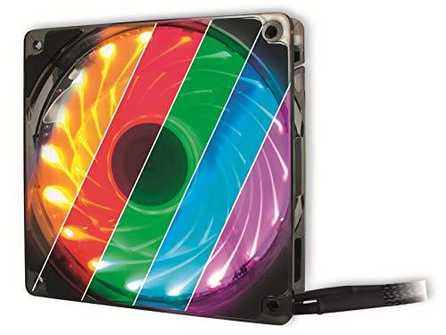 Inter-Tech Argus L-12025 Aura RGB Gehäuselüfter, schwarz/transparent