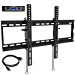 "Everstone Tilt TV Wall Mount Bracket for Most 32-80 Inch LED,LCD,OLED,Plasma Flat Screen,Curved TVs,Low Profile,Up To VESA 600 x 400 and 165 LBS,Includes HDMI Cable and Level,Fits 16"",18"",24""Studs (Renewed)"
