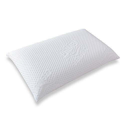 Almohada ortopédica contra el dolor de cuello - Almohada ergonómica para personas alérgicas - Almohada cervical con espuma termoactiva