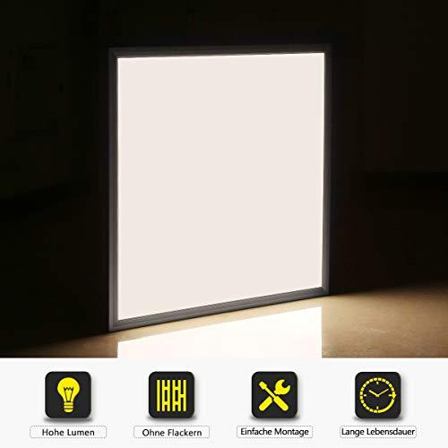 [Pro High Lumen]OUBO LED Panel 30x30cm Neutralweiß 4000K quadratisch 18W 1900 Lumen Weißrahmen LED Wandleuchte Deckenleuchte für Büroräume, Flure, Messehallen