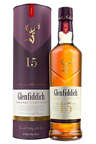 Glenfiddich Whisky de malta escocés 15 años – 70cl