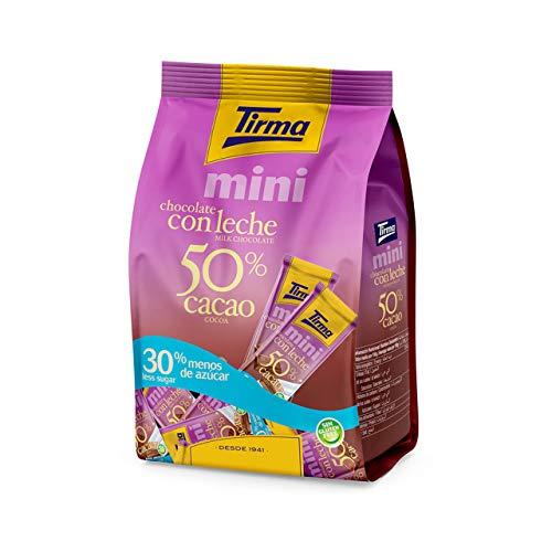Tirma Chocolate con Leche 50% Cacao Mini con 30% Menos de Azúcar, 14 Unidades x 15g, 210g