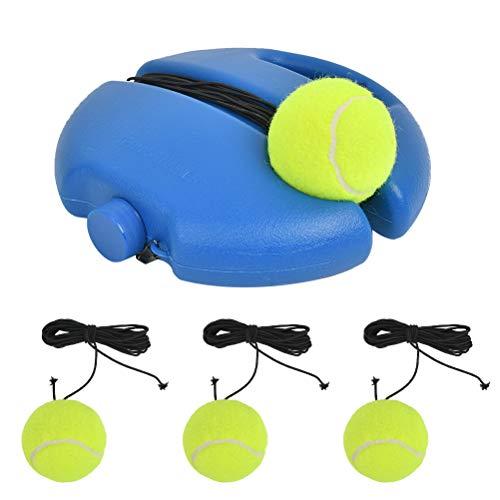 TIMESETL Tennis Trainer Baseboard mit 3 Rebound Ball, Solo Tennistrainer Set Tennis Übungsausrüstung zum Selbststudium für Solotraining Erwachsene Kinder Anfänger