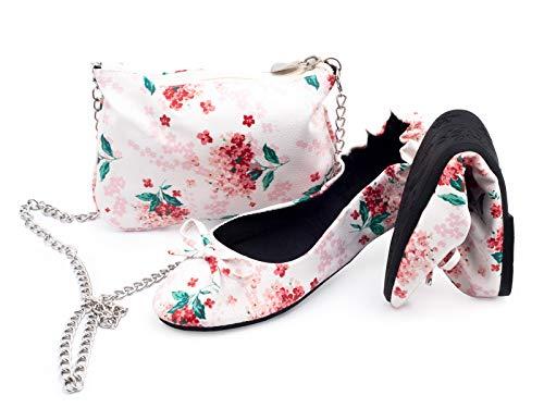 Moeder dochter bijpassende opvouwbare schoenen in uw handtas, Ballerina schoenen, na partij pompen, bruiloft, Pocket schoenen, Ballet Flats, draagtas tas