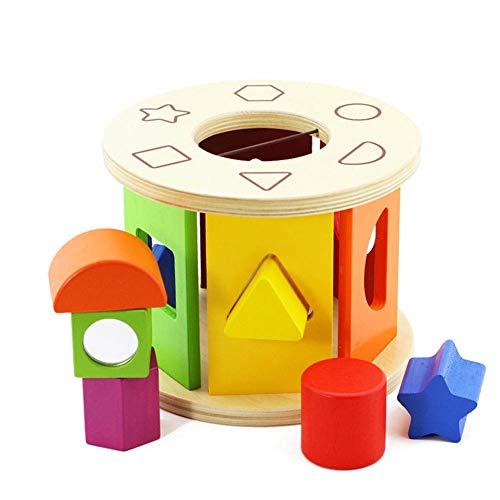 Ysy Jeux pour Enfants Roue De Forme Cognitive Poreuse Forme Géométrique Blocs De Liaison Cognitive 0-3 Ans Puzzle De La Petite Enfance
