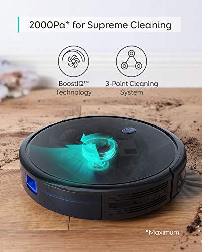 eufy by Anker Saugroboter RoboVac 11S MAX, Roboterstaubsauger mit BoostIQ, extrem schlank, 2000Pa Saugkraft, geräuscharm, selbstaufladend, mit 3 Reinigungsstufen, für Hartböden bis mittelhohe Teppiche - 6