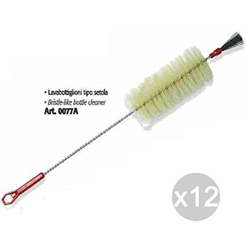 Set van 12 wastafels type borstelharen 0077A reinigingsgereedschap voor huis