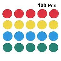 Toyvian 100個カウントチッププラスチックビンゴチップラウンドスライス数学ゲームカウンター学校ゲームルームバー