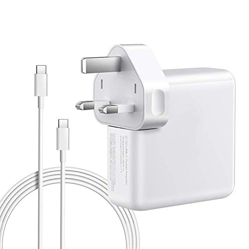 61W USB C Power Adapter Compatible with Macbook Pro Charger, QINUKER Usb Type C Laptop Charger for 12 13 inch with 6.56ft USB-C to USB-C Charge Cable