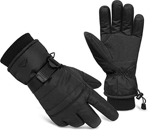 normani 3M Thinsulate Winterhandschuhe Extrem Warme und wasserdichte Unisex Skihandschuhe Farbe Schwarz/Schwarz Größe XS