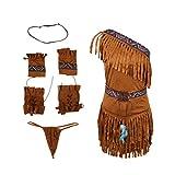 P Prettyia Costumes Indien femme - Kaki, XL