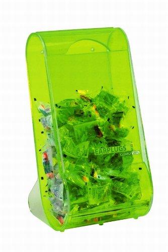 Heathrow Scientific HD1040B - Dispenser da parete di tappi per le orecchie, in acrilico traslucido verde, 203 x 203 x 406 mm