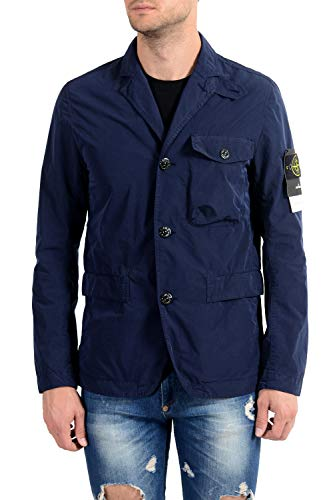 Stone Island Navy Button Down Men's Basic Jacket Sz US M IT 50