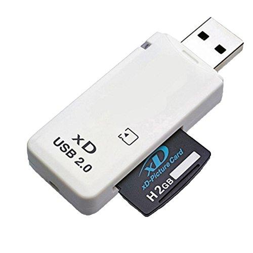 LUPO Lector de Tarjetas de Memoria XD USB 2.0 para Cámaras Fuji & Olympus (Compatible con Windows + Mac)