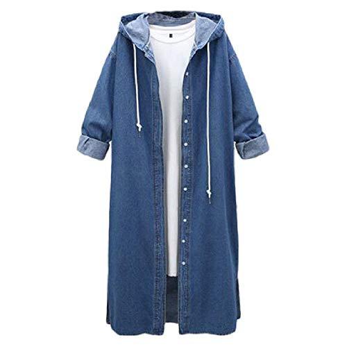 NOBRAND nueva primavera mujeres largo Denim Abrigos Corea suelta con capucha JUPCs overcoat casual más tamaño denim mujer chaqueta cortavientos