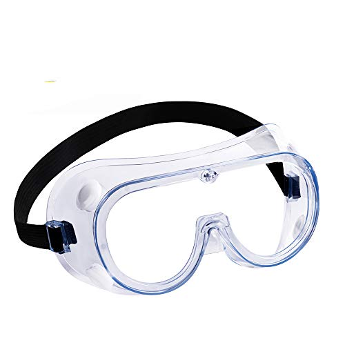 Safety Goggles, Protective Safety Glasses, Soft Crystal Clear Eye Protection - Perfect for Construction, Shooting, Lab Work, and More (5)