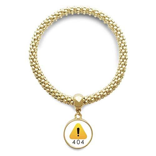 DIYthinker Womens Programmer 502 Fout waarschuwing gouden armband ronde hanger sieraden ketting