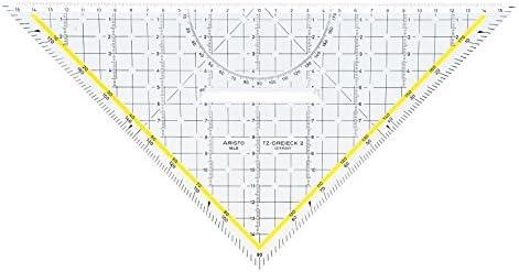 Aristo Equerre de R/églage 10 Pouces Cath/ète 250 Mm Facette Continue Un C/ôt/é R/églable Division E