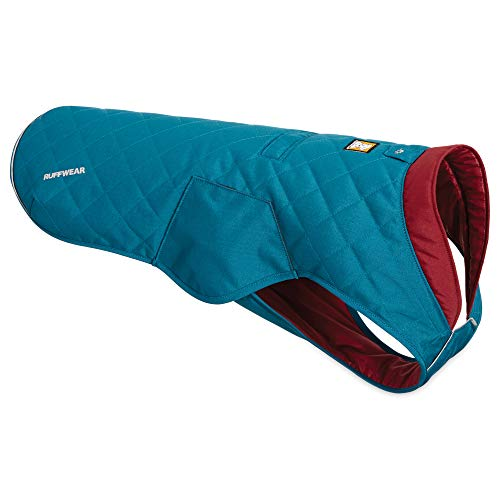 RUFFWEAR, Stumptown Insulated, Reflective Cold Weather Jacket for Dogs, Metolius Blue, XX-Small