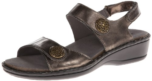 Aravon Women's Candace Dress Sandal,Pewter,5 B US