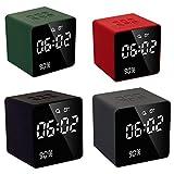 Y-hm Altavoz Bluetooth portátil con Estilo Perfec Altavoz Bluetooth de Reloj de Alarma Digital LED con sintonizador de FM AUX TF USB Reproductor de música Manos Libres con micrófono para teléfono a j