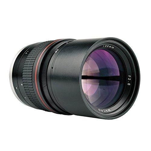 Lightdow 135mm f/2.8 FE UMC Full Frame Telephoto Macro Lens for Canon Rebel EOS 80D 77D 70D 60D 50D 7D 6D 5D 5DS 1DS T7i T7s T7 T6s T6i T6 T5i T5 T4i SL2 and SL1 Digital SLR Cameras