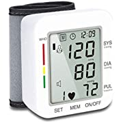 Blood Pressure Monitor Automatic Wrist Blood Pressure Monitor Voice Broadcast Clinical High Blood Pressure Monitor with Large LCD Screen Accurate and Portable for Home Use